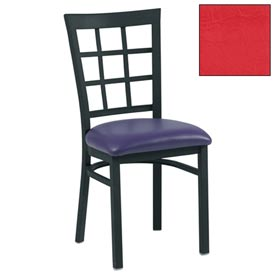 "Grid-Back Chair 17-1/2""W X 16""D X 35""H - Red - Pkg Qty 2"