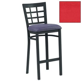 "Grid-Back Bar Stool 17-1/2""W X 16""D X 41-1/2""H - Red - Pkg Qty 2"