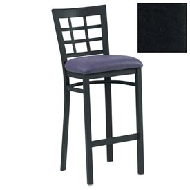 "Grid-Back Bar Stool 17-1/2""W X 16""D X 41-1/2""H - Black - Pkg Qty 2"