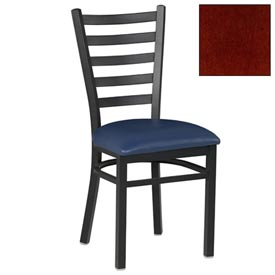 "5 Slat-Back Chair 17-1/2""W X 16-1/2""D X 36""H - Mahogany - Pkg Qty 2"