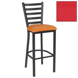 "5 Slat-Back Bar Stool 17-1/2""W X 16-1/2""D X 45""H Red Package Count 2 by"