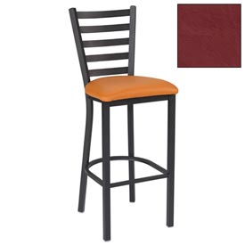 "5 Slat-Back Bar Stool 17-1/2""W X 16-1/2""D X 45""H Burgundy Package Count 2 by"