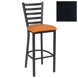 "5 Slat-Back Bar Stool 17-1/2""W X 16-1/2""D X 45""H - Black - Pkg Qty 2"