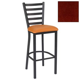 "5 Slat-Back Bar Stool 17-1/2""W X 16-1/2""D X 45""H Mahogany Package Count 2 by"