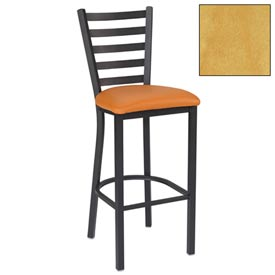 "5 Slat-Back Bar Stool 17-1/2""W X 16-1/2""D X 45""H Natural Package Count 2 by"