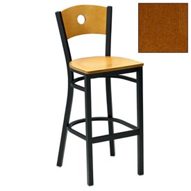 "Cherry Circle-Back Bar Stool 17-1/2""W X 17""D X 42""H - Pkg Qty 2"