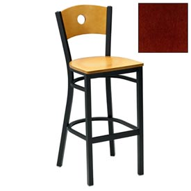 "Mahogany Circle-Back Bar Stool 17-1/2""W X 17""D X 42""H - Pkg Qty 2"