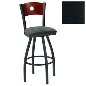 "Cherry Circle-Back Swivel Bar Stool 17-1/2""W X 17""D X 42""H - Black - Pkg Qty 2"