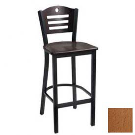 "Natural 3 Slat-Back Bar Stool 17-1/2""W X 16""D X 42""H - Pkg Qty 2"