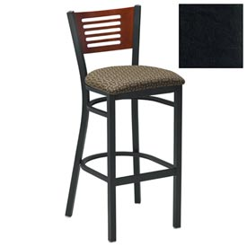 "Natural 5 Slat-Back Bar Stool 17-1/2""W X 17""D X 42""H - Black - Pkg Qty 2"