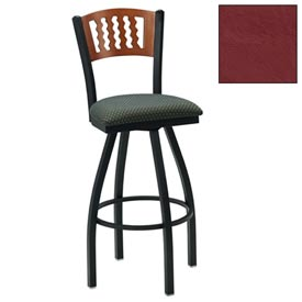 "Natural 5 Wave-Back Swivel Bar Stool 17-1/2""W X 17""D X 42""H - Burgundy - Pkg Qty 2"