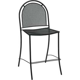 Premier Hospitality Furniture Brentwood Outdoor Metal Bar Height Chair Without Arms