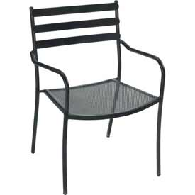 Premier Hospitality Furniture Tremont Outdoor Metal Chair With Arms - Pkg Qty 4