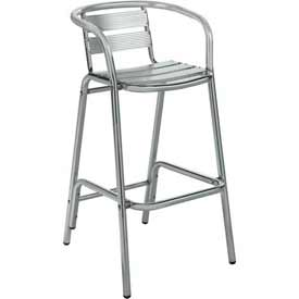 Premier Hospitality Furniture Luna Outdoor Aluminum Bar Height Chair With Arms