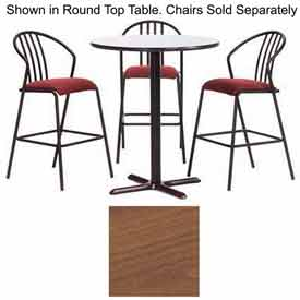 "Premier Hospitality Square Bar Table with X-Base 30""W x 30""D x 42""H - Wild Cherry"