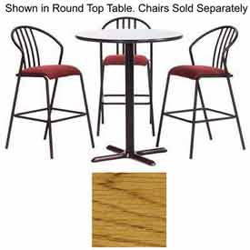 "Premier Hospitality Square Bar Table with X-Base 36""W x 36""D x 42""H - Medium Oak"