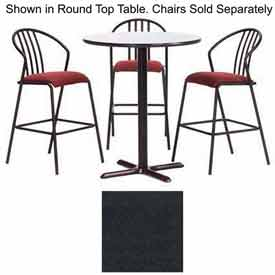 "Premier Hospitality Square Bar Table with X-Base 42""W x 42""D x 42""H - Graphite Nebula"