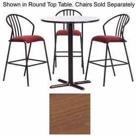 "Premier Hospitality Square Bar Table with X-Base 42""W x 42""D x 42""H - Wild Cherry"