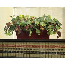 OfficeScapesDirect Mixed Coleus & Grape Ivy Cubicle Silk Plant