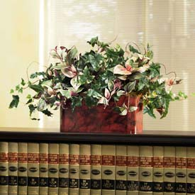 OfficeScapesDirect Mixed Ivy & Wandering Jew Filetop Silk Plant