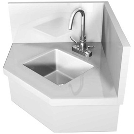IMC WS CK Stainless Steel Wall Mounted Corner Hand Sink