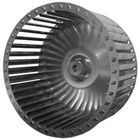 "Single Inlet Blower Wheel, 6-5/16"" Dia., CCW, 2000 RPM, 1/2"" Bore, 2-1/16""W, Galvanized"