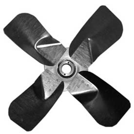 "Heavy Duty Four Wing Fan Blade, Galvanized Steel Props, 48"" Dia.,CW, 27° Pitch"