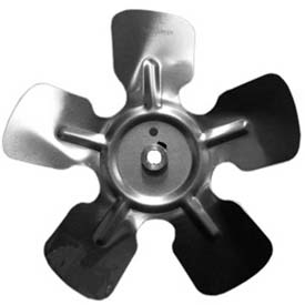 "Small Fixed Hub Fan Blade, 8"" Dia., 24° Pitch, CW, 1/4"" Bore, 1-1/8"" Blade Depth, 5 Blade"