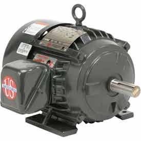 US Motors Hostile Duty TEFC, 3 HP, 3-Phase, 1175 RPM Motor, H3P3D