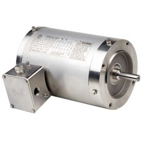 US Motors Washdown, 3 Phase, 1/2 HP, 3-Phase, 1140 RPM Motor, WDP12S3DCR
