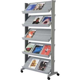 Paperflow Single Sided XL Literature Display Silver