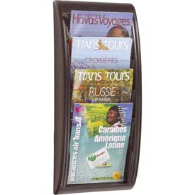 Paperflow Letter Size 4-Pocket Quick Fit Systems Literature Display  Black