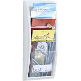 Paperflow Letter Size 4-Pocket Quick Fit Systems Literature Display  White
