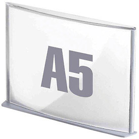 "Paperflow 5-5/6"" x 8-1/4"" A5 Signage Silver"