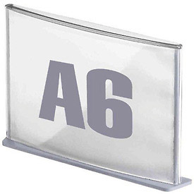 """Paperflow 4-1/7"""" x 5-5/6"""" A6 Signage Silver"""