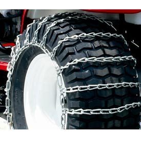 Maxtrac Snow Blower/Garden Tractor Tire Chains, 2 Link Spacing (Pair) 1063156 by