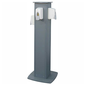 PolyPortables Handi-Stand Hand Sanitizer Station W/ 4 Dispensers - PP8820-599-B