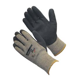 PIP PowerGrab™ Plus Gloves, Blue Latex W/MicroFinish™, XL