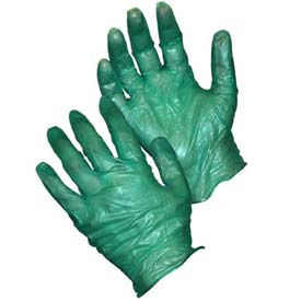 PIP Ambi-Dex Heavy Weight Duty Disposable Vinyl Gloves, 6 Mil., Green Vinyl, L Package... by