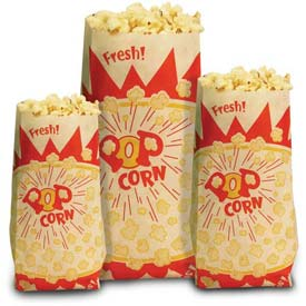 Paragon 1030 Popcorn Bags 1.5 oz 1000/Case by
