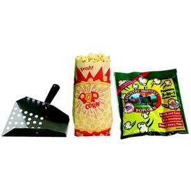 Paragon 1087 Popcorn Starter Pack-8 oz 1000 Paper Bags  by