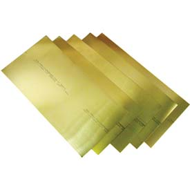 "0.006"" Brass Shim Stock 6"" x 18"" Flat Sheets (Pack of 10)"