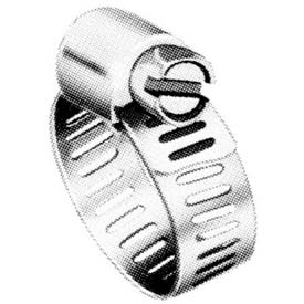 "M12P Micro Seal, Miniature Partial Stainless Worm Gear Hose Clamp, 9/16"" - 1-1/4"" Dia. 10-Pack"