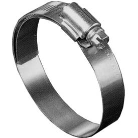 "B24HL Shielded/Lined Worm Gear Hose Clamp, 1-1/16"" - 2"" Clamping Dia. 10-Pack"