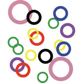 """1"""" I.D. x 1-1/2"""" O.D. x 0.015"""" Plastic Color Coded Arbor Shim (Pack of 10) - Made In USA"""