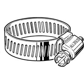 "B16HSPX 316 Stainless Steel Worm Gear Hose Clamp, 11/16"" - 1-1/2"" Clamping Dia. 10-Pack"