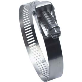 """QR128HS Quick Release All Stainless Worm Gear Hose Clamp, 1-3/4"""" - 8-9/16"""" Clamping Dia. 10-Pack"""