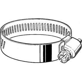 "HD44H 9/16"" Band, Heavy Duty 3-Piece Partial SS Worm Gear Hose Clamp 2-5/16"" - 3-1/4"" Dia. 10-Pack"