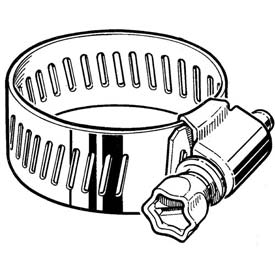 "CS16H Collared Screw Worm Gear Hose Clamp, 3/4"" - 1-1/2"" Clamping Dia. 10-Pack"