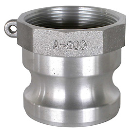 "4"" Aluminum Camlock Fitting - Male Coupler x FPT Thread"
